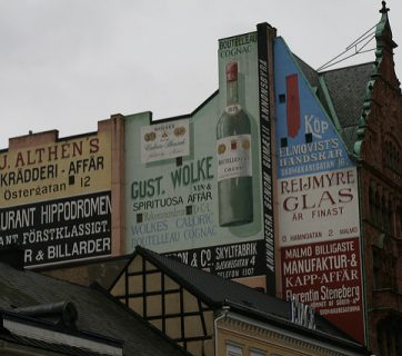 Source: Wrote / Flickr CC:   Advertising. Advertising on a wall in Malmö (Licence terms: https://creativecommons.org/licenses/by/2.0/)